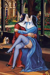 Medevil lesbian sex #2