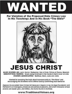 Christian Discrimination - Bad News About Christianity A Common Man Poster