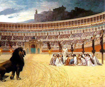 Image result for roman persecution of christians