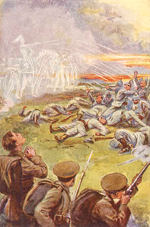 Angels of Mons fighting on the side of the British