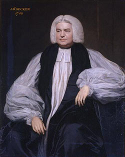 the Most Rev Thomas Secker, Archbishop of Canterbury, 1758